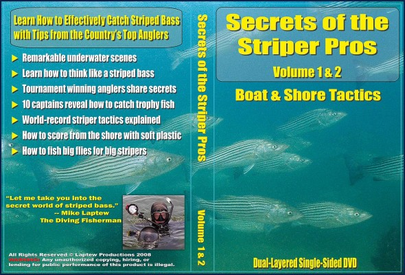 DVD Jacket for Secrets of the Striper Pros