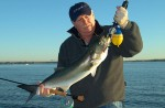 Dan Blanton with a nice bluefish caught on the fly