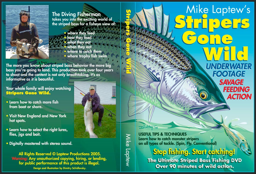Jacket cover for the DVD &quot;Stripers Gone Wild&quot; by Mike Laptew