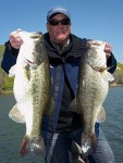 Trevor Gowdy and two monster largemouth bass