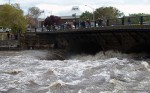 Blackstone River at Flood Stage in Pawtucket