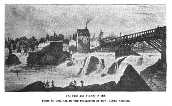 The Pawtucket Falls on the Blackstone River