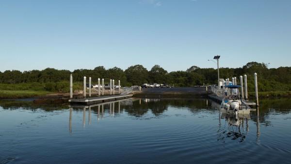 boat ramp at Barn Island