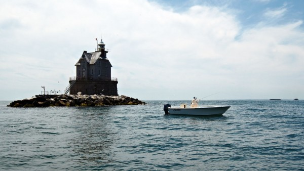 Fly fishing Race Rock Lighthouse